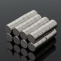 50pcs 6X4MM N50 Super Stark Rund Scheibenförmig Blöcke Seltenerd Neodym Magnet