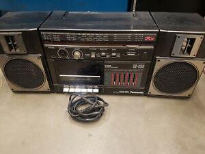 Vintage PANASONIC RX-C36 Boombox PORTABLE Detachable Speakers Radio