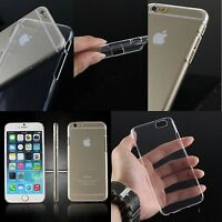 For New Apple iPhone 5 5S 6 6s 6Plus Case Cover Crystal Clear +Free Screen Guard