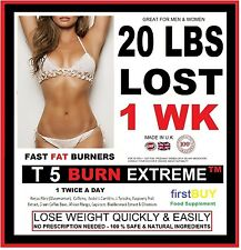 T5 BURN EXTREME WEIGHT LOSS PILLS FAT BURNERS STRONG DIET SLIMMING TABLETS Bid88