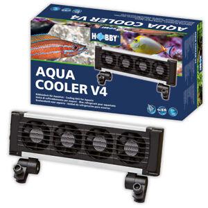 HOBBY AQUA COOLER V4 FANS 4PK MARINE REEF TROPICAL FISH TANK AQUARIUM COOLING