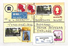 XX39 1979 NEW ZEALAND *Northcote* REGISTERED STATIONERY Uprated Airmail Cover