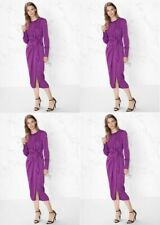 & Other Stories stunning long purple open back wrap around dress $125 price NWT