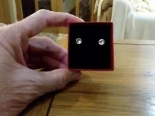 Brand new small gold tone diamond look stud earrings with gift box