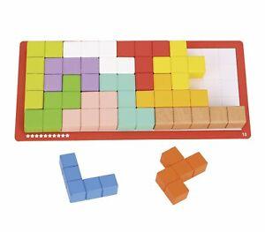Tooky Toy - Wooden Puzzle Cubes (23 Pcs)