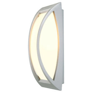 Intalite exterior IP54 MERIDIAN 2 wall and ceiling light silver-grey E27 25W