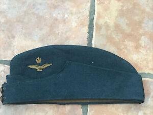 Original Military Early WW2 RAF Side Cap Field Service Uniform Hat Cap & Badges
