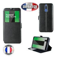 Etui Rabattable Noir Avec Ouverture Ecran pour Huawei Mate 10 Lite