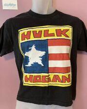 WWE Hulk Hogan Youth XL T Shirt Hulkamania 30th Anniversary Vtg Flag WWF WCW