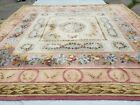 Vintage Stark Carpet 13x13 Wool Square Rug French Muted Pink & Cream Oversized