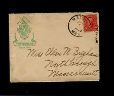 "Scott# 301 w/ Black ""MARION MASS."" on 1903 Illustrated cover for THE SIPPICAN"