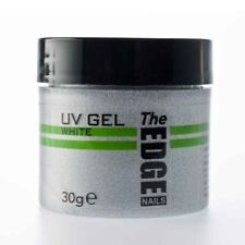 THE EDGE NAIL UV GEL - WHITE 30g grams  false nail tips builder one step overlay