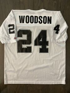 VTG Oakland Raiders Charles Woodson Jersey Sz 48 Champion Brand NFL 90s XL