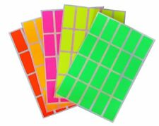 Fluorescent Neon Color Stickers Permanent Adhesive Rectangular Labels 400 Pack