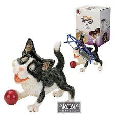 Optipaws Black & White Cat Glasses Holder Figurine NEW in Gift box - 24317