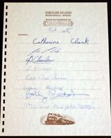 Lilly Belle Presidential Car Guest Register 1985 Signed Disneyland Walt Disney