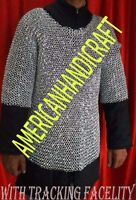 CHAINMAIL ALUMINUM SHIRT LARGE SIZE 9 MM ROUND RIVITED q