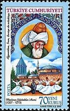 TURKEY 2005, CULTUREL ASSETS, MEVLANA, ISLAMIC PHILOSOPHER, MNH