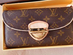 Auth-LOUIS-VUITTON-Monogram Portefeuille Eugenie Long Wallet