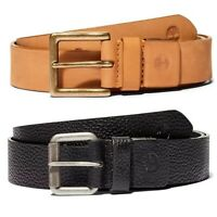 Timberland Men's Leather Belt One Size Cut To Fit in Black or Tan / Wheat