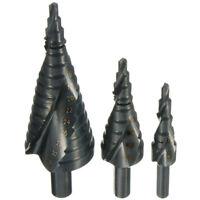 3X HSS Spiral Grooved Step Cone Drill Drills Bit 4-12 4-20 4-32mm Hole Cutter