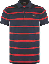 Paul & Shark Regular Fit Striped Casual Polo Shirts for Men