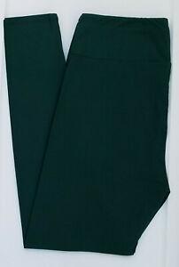 OS LuLaRoe One Size Leggings Beautiful Solid Dark Pine Hunter Green NWT 06