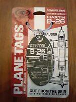 B-26 Marauder Genuine Aircraft SkinPlane Tag – World War 2 Veteran - Free Ship