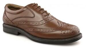 Wide Brogues Shoes EE Leather Brown