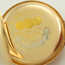 Antique Longines Grand Prix Paris 1889 20 Lignes Hunting Case Pocket Watch