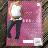 BE MATERNITY BeBand Belly Band Silicone Strip Sz M/L True White Womens Pregnancy