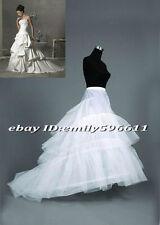 Plus size 2 hoops wedding gown train petticoat crinoline Fit USA SIZE 16W to 24W