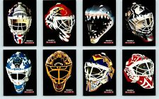 1992-93 PINNACLE MASKS FRENCH COMPLETE SUBSET OF 8 - Belfour Fuhr Cujo Moog Rare