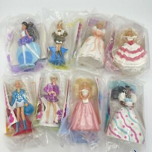 Mcdonalds Happy Meal 1992 Barbie COMPLETE Set Of 8 In Package Stocking Stuffers