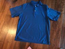Walter Hagen Blue Collared Poly/Rayon Short Sleeve Shirt in Mens Xl