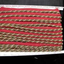 REMNANT Red Green Cord .325 Inches x 22.75 Yards