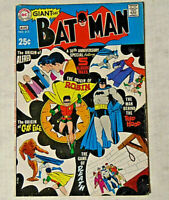 Batman #213 FN Giant G61 1969 DC Comics Origin Issue Robin Alfred Clayface
