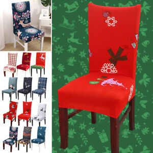 New Year Christmas Party Chair Back Covers Xmas Home Kitchen Seat Decor 1/2/4pcs
