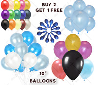 "5-100 Large PLAIN BALOONS BALLONS helium BALLOONS 10"" Party Birthday Wedding UK"