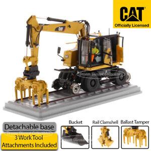 1/50 CAT CATERPILLAR M323F RAILROAD WHEELED EXCAVATOR DIECAST MASTERS 85662