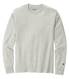 Champion Men's 100% Cotton Tagless Long Sleeve T-Shirt CC8C - Pick Size & Color