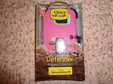 Genuine OtterBox Defender Case & Holster Samsung Galaxy S6 Melon Pop Pink/White