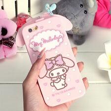 iPhone 7 Plus Case - PINK Melody [SOFT rubber case - cute bendible case]