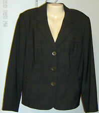 Alfani Woman Size 16W Jacket Chocolate Brown Roma New with Tags $169   3 Button