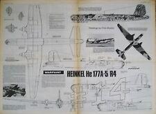 Heinkel He 177A-5 R4 1.72 Scale Drawings WARPAINT Aviation News May June 1976