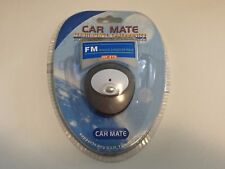 CAR MATE Mobile Phone FM Radio Handsfree Speaker Transmitter - Brand New, Grey