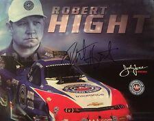 Robert Hight NHRA driver autographed 8x10 photo John Force Racing Signed