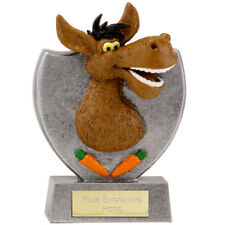 DONKEY CARROT TROPHY ENGRAVED FREE LOSER BOOBY PRIZE FINALIST RESIN TROPHIES