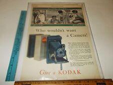 Rare Original Vintage 1931 LHJ Pocket Kodak Junior Camera Color Ad Art Print