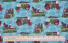1/2 yard cotton quilt fabric International Harvester Days Gone By plows tractors